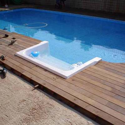Acabados de madera piscinas