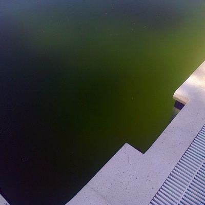 agua verde piscina