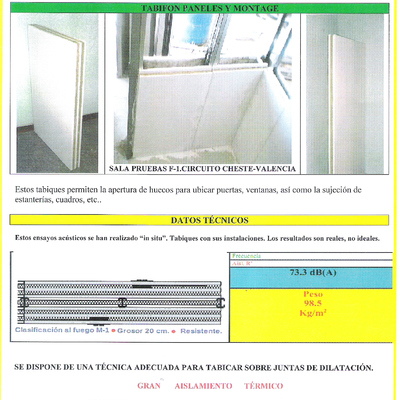 AISLAMIENTO ACUSTICO-TERMICO ALTA SEGURIDAD .