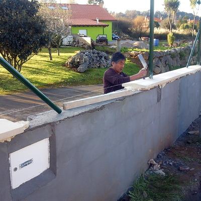 albardillas en muro