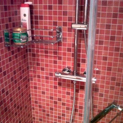 Alicatado en el interior de la ducha.
