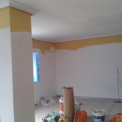 alisado y pintado de paredes y techos