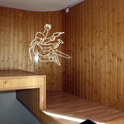 altillo de hierro forrado de madera