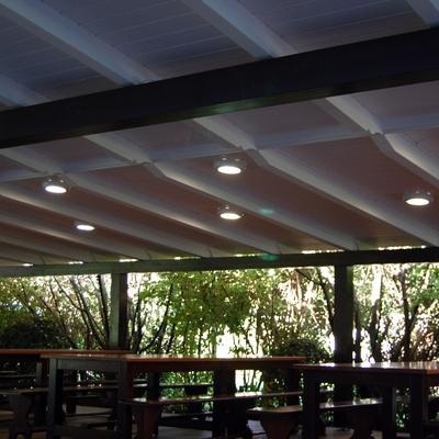 Alumbrado terraza Hotel-Restaurante Atalaia