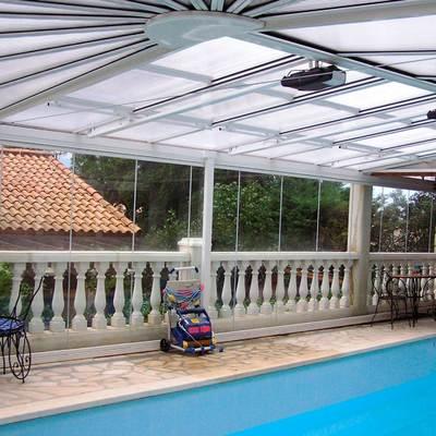 Techo motorizado piscina