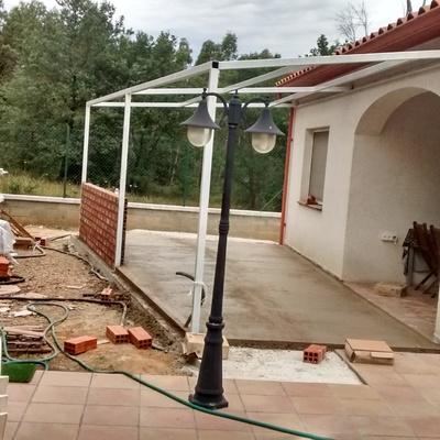 Estructura para cerrar un porche