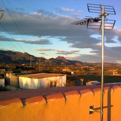 Antena en terraza