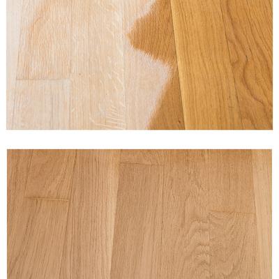Antes y después en restauración de parquet