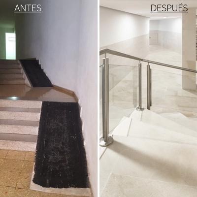Obra escaleras portal