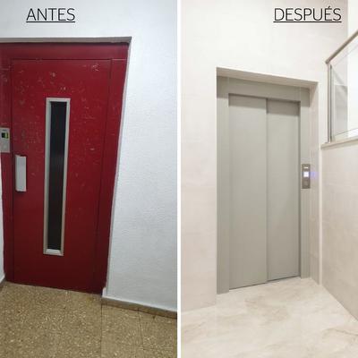 Sustitución ascensor nuevo