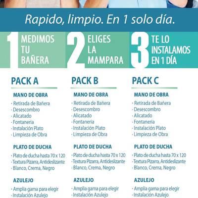 Inbaño cambio de Bañera por Plato de Ducha. 565 €