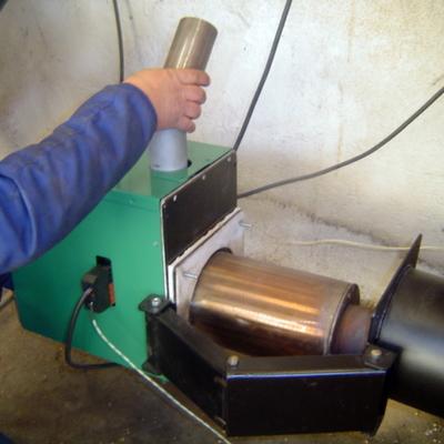 Apertura 2 de quemador de biomasa