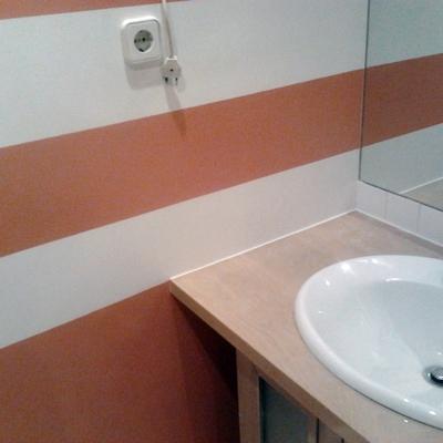 Aplicación de esmalte satinado anti-humedad