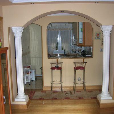 Arco decorativo sobre columnas