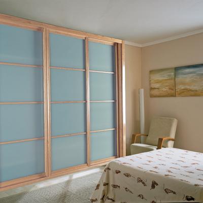 Armario corredera vidrio mate 3+3 (Tipo jampones)