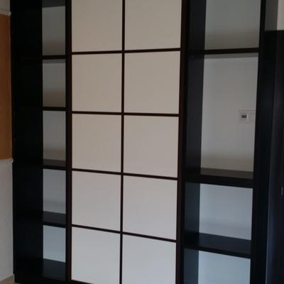 armario librería en wengué