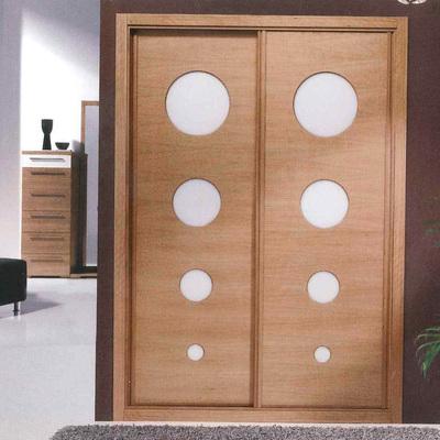 armario puertas correderas roble barnizado