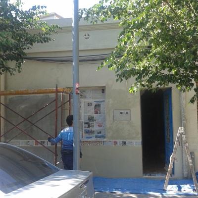 Arreglo de fachada y pintado en Cerdanyola del Valles.