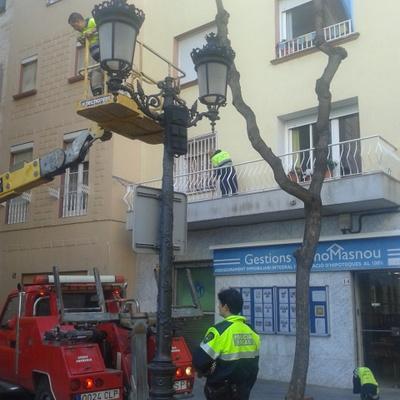 Arreglo grietas en fachada, El Masnou.