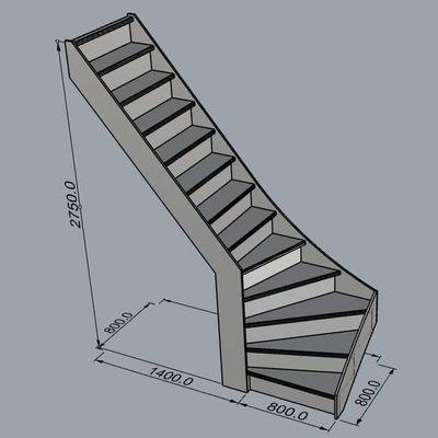 diseño 3D de escaleras a medida
