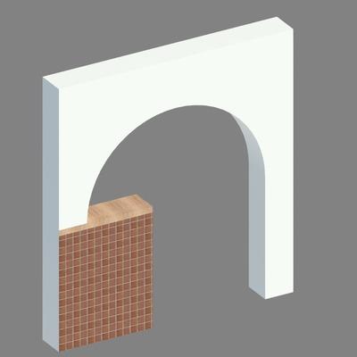 Visualización 3d arco pladur pizzeria