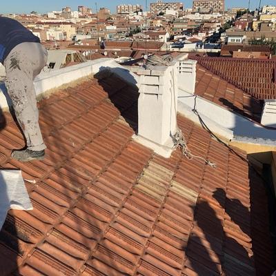 Impermeabilizacion de tejado en mal estado