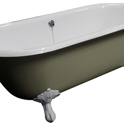 BAÑERA DE HIERRO FUNDIDO MODELO DOUBLE ENDED ROLLED TOP