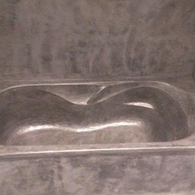 Bañera de microcemento