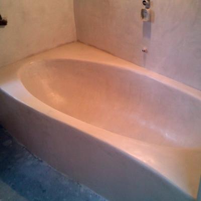 bañera de obra
