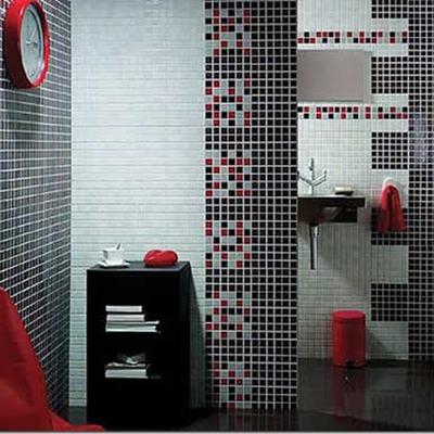 Baño con decoración moderna
