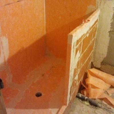 Impermeabilización de ducha de obra