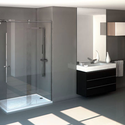 Baño Con lavabo de y Plato de ducha Silestone