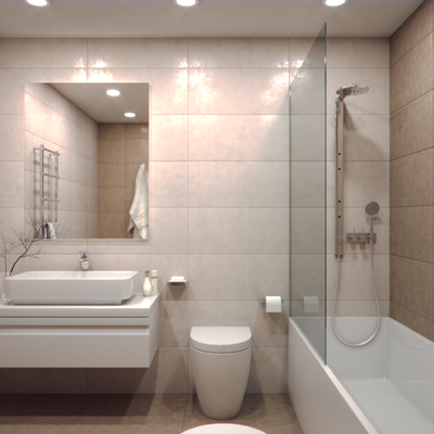 Mampara de bañera fija