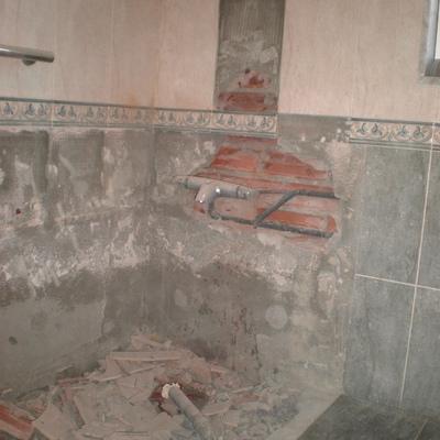Baño en reforma,en chalet de PIEDRAS BLANCAS(CASTRILLON)