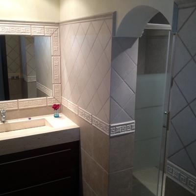 baños rustico moderno