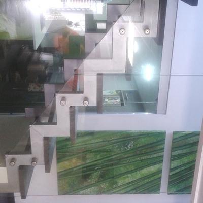 Barandilla cristal templado con distanciadores de inox