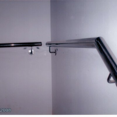 Barandilla inox de pared