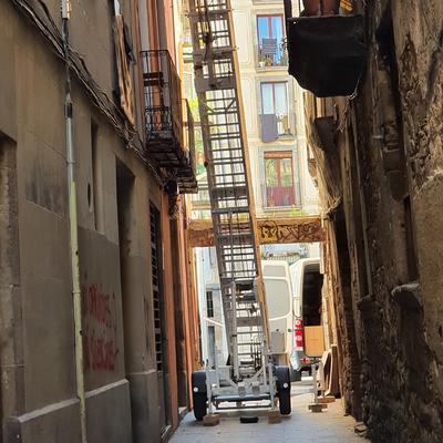Mudanza en Barcelona con elevador