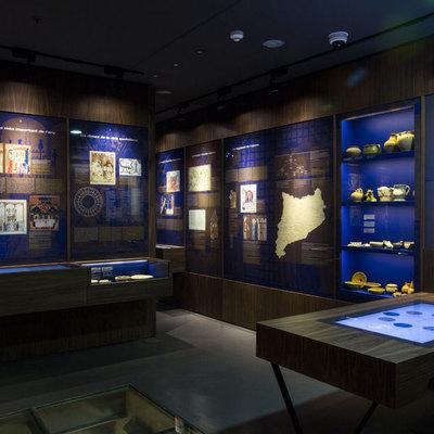 Diseño del espacio del Museu d'Història de Barcelona en el Call