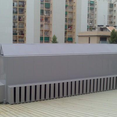 Barrera acústica para climatizadoras