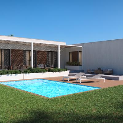 Casa Prefabricada 2 modulos con piscina