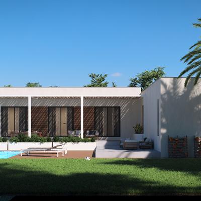 Casa Prefabricada 2 modulos vista frontal