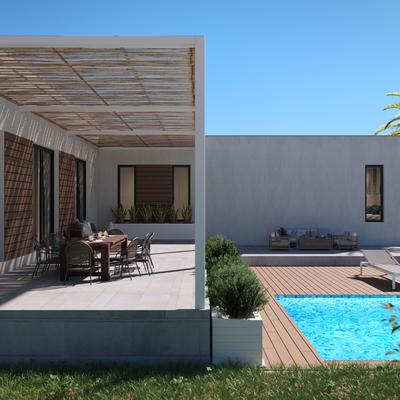 Detalle terraza y porche
