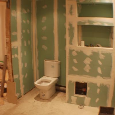 Baño Proyecto Mirasierra. (2008) -- fase construccion