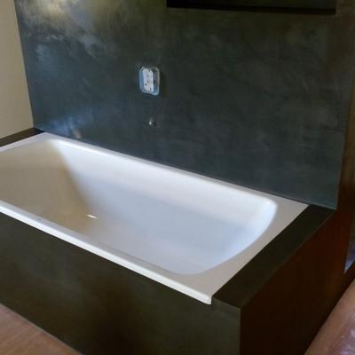 Bañera gris mineral