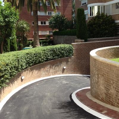 Rampa de asfalto en Barcelona