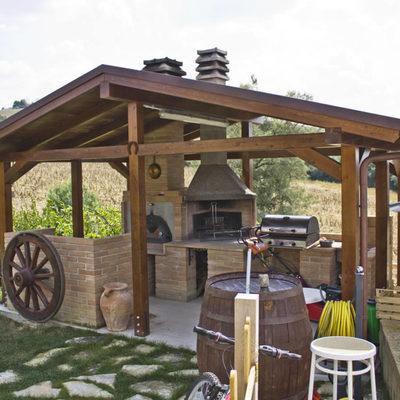 Cenador de madera