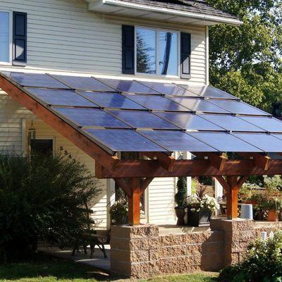 Integración arquitectónica de instalación fotovoltaica, 20 placas.