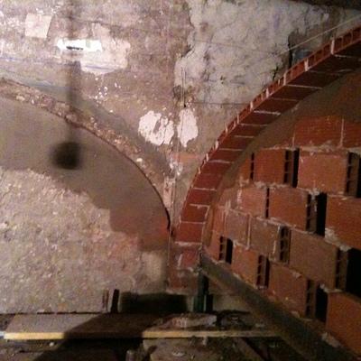 BÓVEDAS EXTREMEÑAS: Cimbra provisional arco encuentro bóvedas