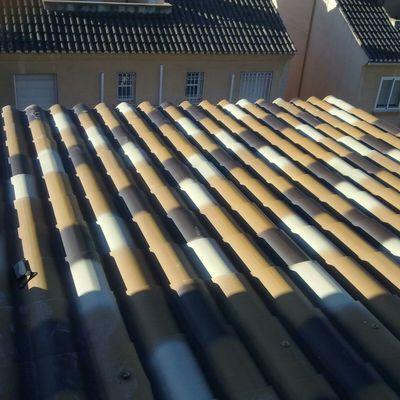 placas de teja artificial con aislante termico y acustico